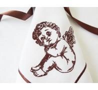 "Салфетка из льна с вышивкой ""Ангел"", размер 40*40 см"
