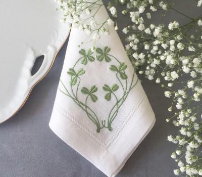 Салфетка из льна с вышивкой, 40*40 см