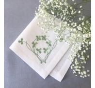 Салфетка из льна с нежной вышивкой, 40*40 см
