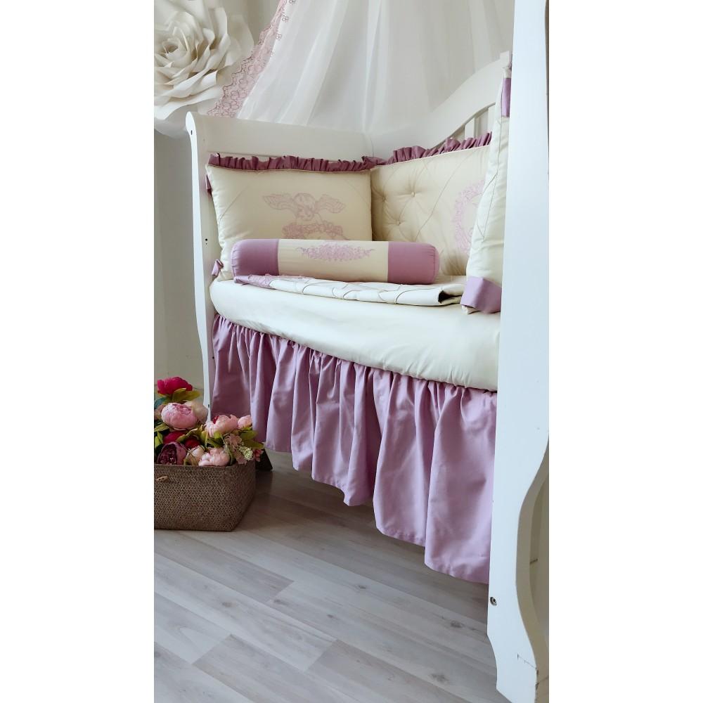 Юбка на прямоугольную кроватку. Материал: 100% хлопок (сатин).
