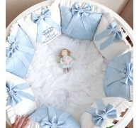 Бортики в овальную круглую кроватку на заказ