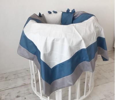 """Одеяло """"Трио"""" из трех видов сатина, декоративными строчками"""