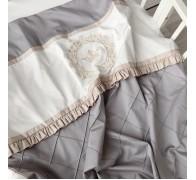 """Одеяло """"Shine"""" из нескольких оттенков сатина, декоративными строчками и рюшей"""
