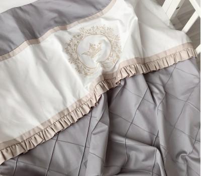 """Одеяло """"Shine"""" из двух видов сатина, декоративными строчками рюшей"""