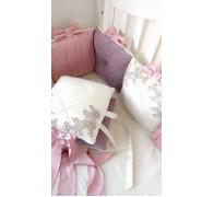 """Бортики """"Dream"""" с шелком в прямоугольную кроватку"""