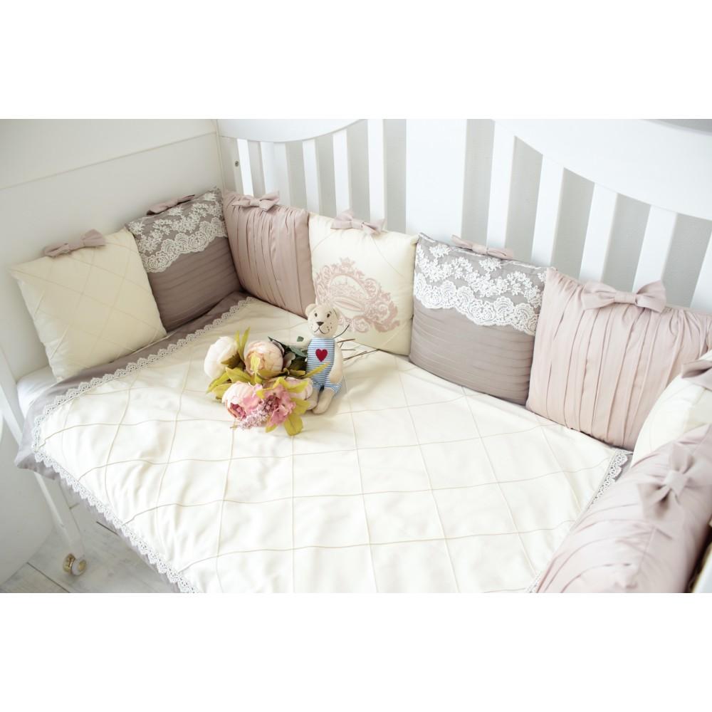 """Бортики в кроватку """"Стиль"""" для прямоугольной кроватки."""