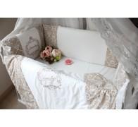 """Цельные бортики """"Грезы"""" для прямоугольной кроватки. Высота борта 40 см."""