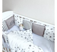 """Комплект """"Звездный"""" в прямоугольную кроватку"""