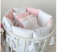 """Комплект в кроватку """"Paradise"""" розовый/молочный."""
