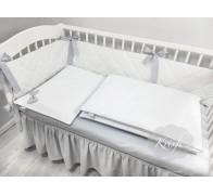 Цельные тонкие бортики в овальную кроватку
