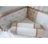 """Комплект в кроватку """"Слоненок"""" с эксклюзивной вышивкой."""