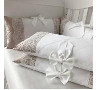 """Комплект в кроватку """"Зефир"""": бортики,  простынь, одеяло и пододеяльник"""