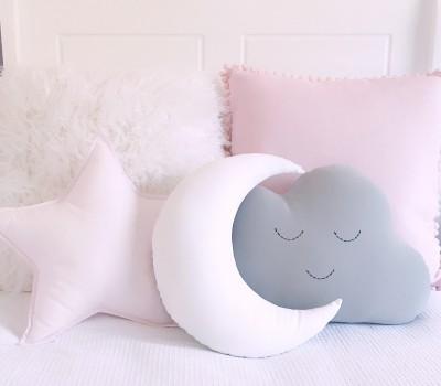 "Декоративная подушка ""Луна"". Материал: микрофибра или 100% хлопок (сатин)"