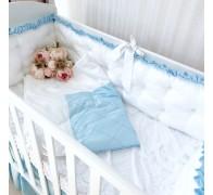 """Одеяло """"Совершенство"""" из двух видов сатина, декоративными строчками и с/без кружева"""
