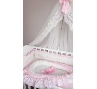 Кокон (гнездышко) для новорожденного с кружевом