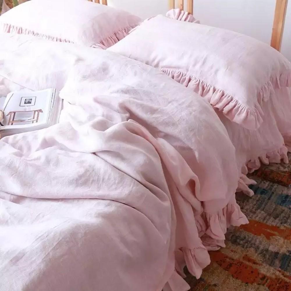 Комплект постельного белья из органического хлопка с оборками