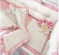 Комплект постельного белья  с оборками (рюшами)