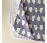 Одеяло цветное с использованием мягкого плюша (микрофибры)