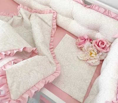 Одеяло из сатина (хлопок), дополненное рюшей (оборкой)