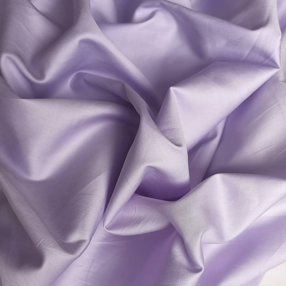 Сатин премиум (100% хлопок). Цвет: темная лаванда