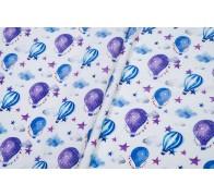 Сатин (100% хлопок). Цвет: воздушные шары. Синий