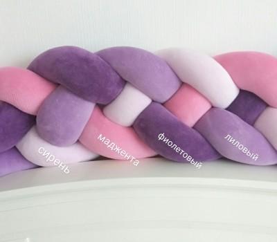 Велюр. Сиреневые, розовые, ягодные и фиолетовые оттенки.