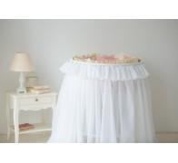 Юбка из вуали в круглую (овальную) кроватку. Материал: вуаль.